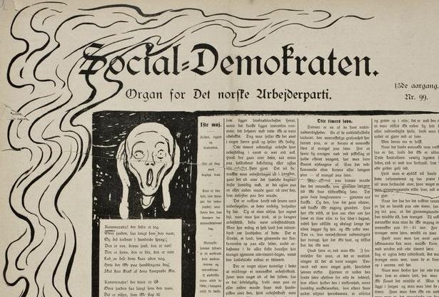 Munch as editorial cartoonist