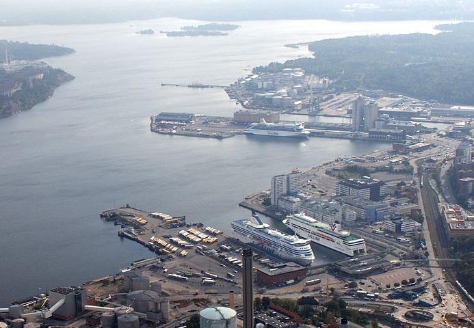 Nya Kontoret knegar i hamnen