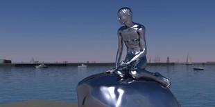 Omstridt mannlig «havfrue»